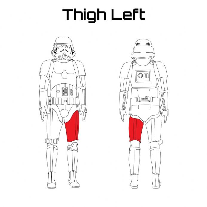 ORIGINAL STORMTROOPER ARMOUR PARTS [Thigh Left]